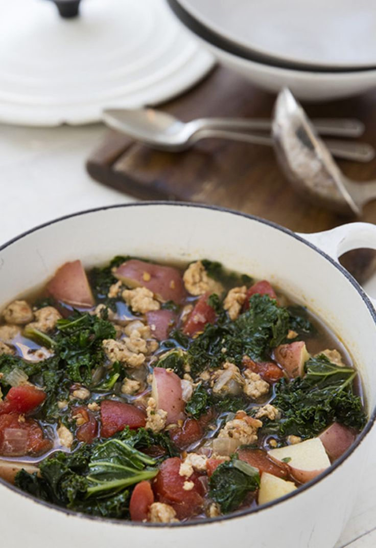 6. Sausage, Potato, and Kale Soup  #greatist http://greatist.com/eat/whole-30-recipes-for-every-meal