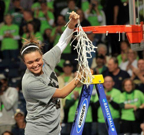 Kayla Mcbride cuts domn the nets