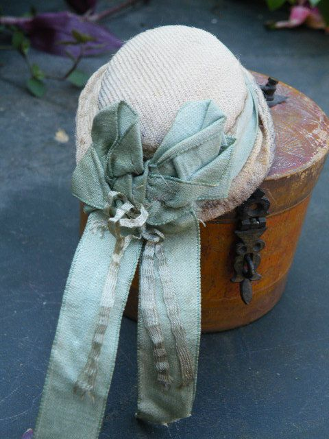 Fabulous Original Early Fashion doll Hat for Huret/Rohmer in Original Hat Box