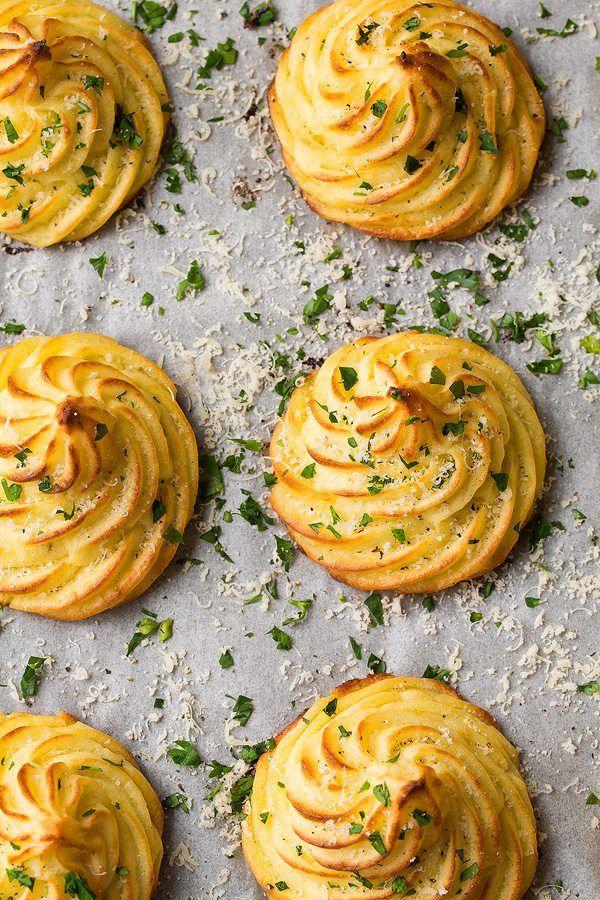 Garlic Parmesan Duchess Potatoes   Cooking Classy