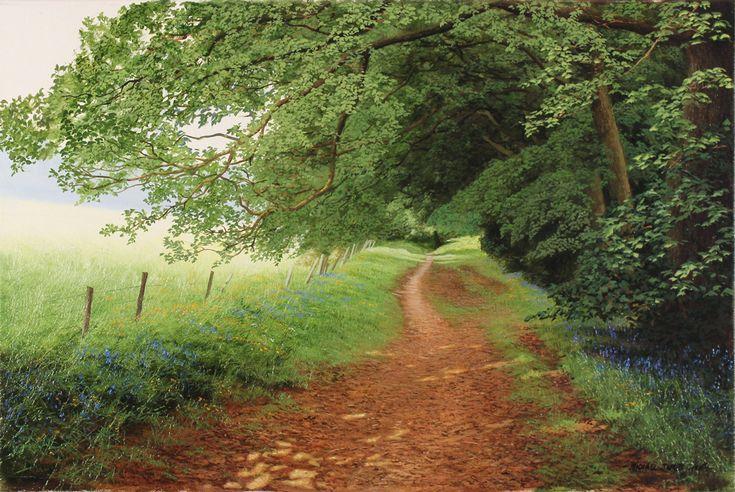 Michael James Smith, Original oil painting on canvas, Dappled Light, Yorkshire