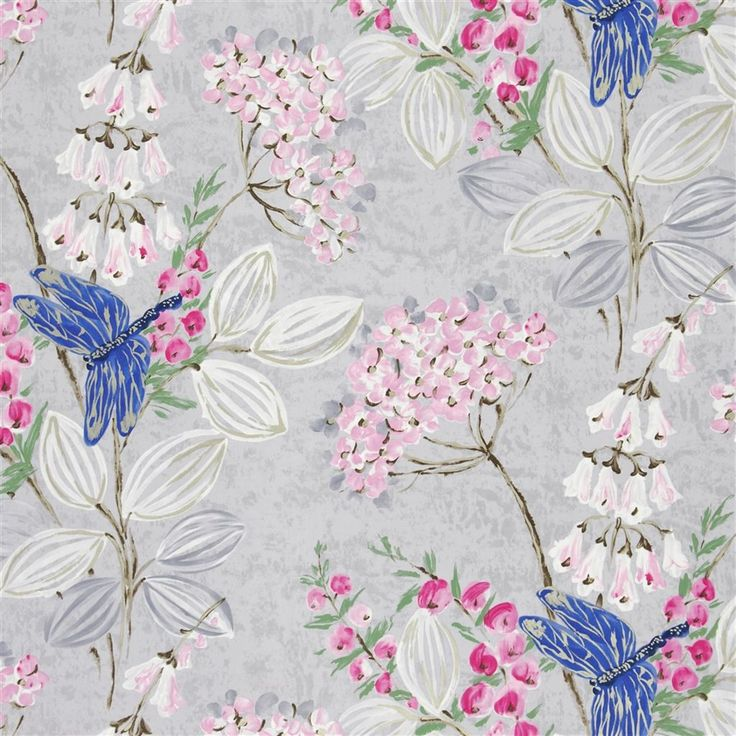 kimono blossom - heather fabric   Designers Guild - possible blind fabric for daughter's room