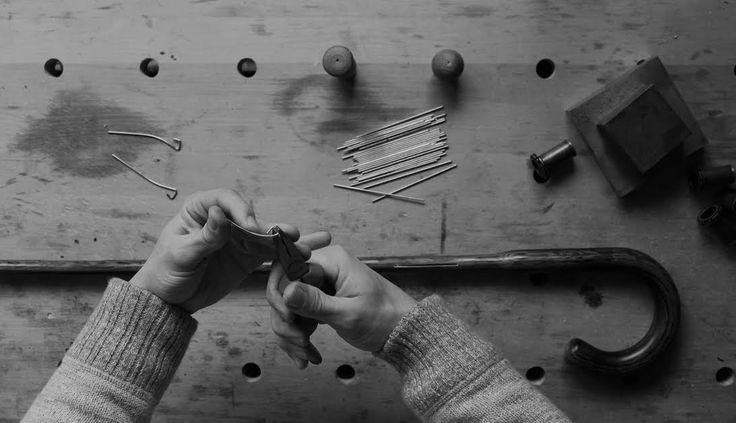Shaping spring, Lockwood umbrellas manufactory - North London, England, 2016.