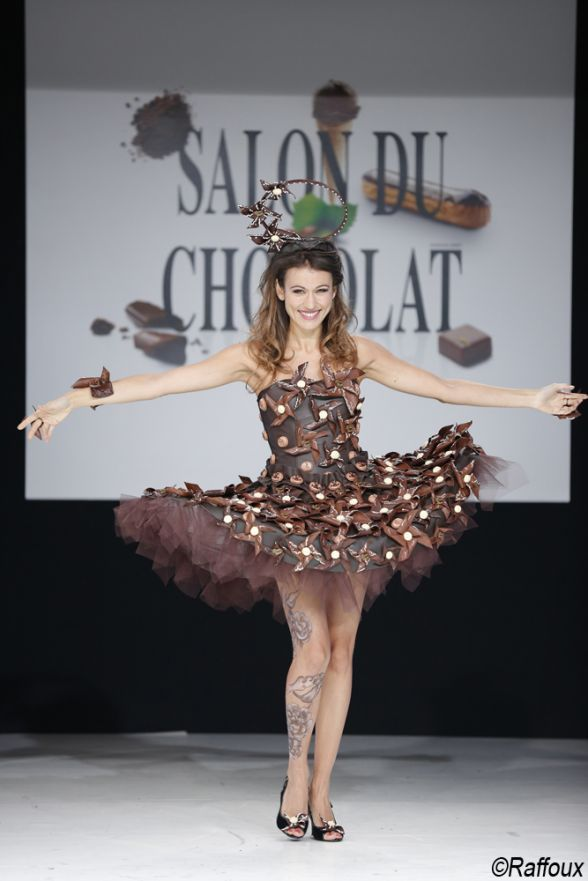 The Salon du #Chocolat of #Paris, a delicious show with compelling dresses! The #hairdresser of the stars #Franck #Provost was in charge of the #beauty enhancing of the tops. http://www.livecoiffure.com/en/posts/31954-salon-du-chocolat#