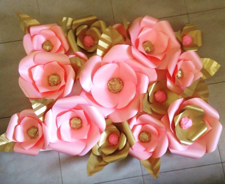 Flores gigantes handmade Detallitos de Papel