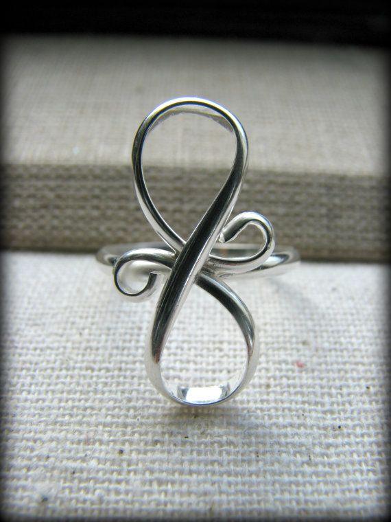 ღ~~Infinity Ring Eternity Design Sterling Silver Symbol~~Best Friends/Sisters/Cousin