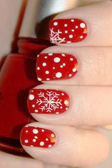 #style #nail #art #nailart  #color #colorful #polish #trend #fashion #women #girl #beauty #beautiful #nailpolish #red #winter #christmas #nails
