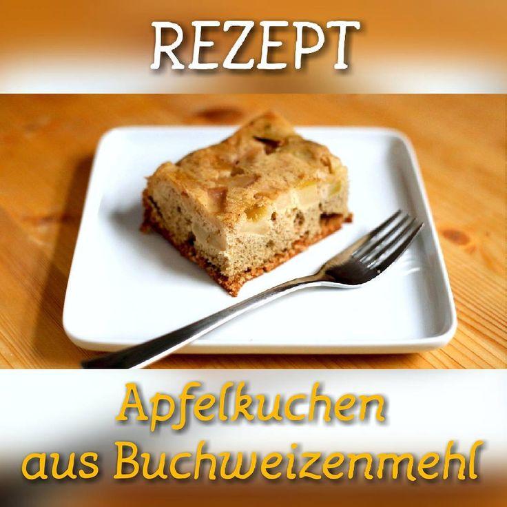 Frisch aus der Gesundheitsplus Küche. Schnell noch die Zutaten kaufen und glutenfreien Apfelkuchen backen! Unserer Redaktion schmeckt es!! :) Zutaten: 100g Buchweizenmehl 2 große grüne Äpfel 3 Eier 50g Rohrzucker 1 TL Backpulver 1 Päckchen Vanillezucker 1 EL Olivenöl  Zubereitung: 1  Äpfel entkernen und in große Würfel schneiden. 2  Eier mit einem Handrührgerät schaumig schlagen. Rohrzucker und Vanillezucker hinzugeben und weiter schlagen. 3  Backpulver mit Buchweizenmehl in einer Tasse…