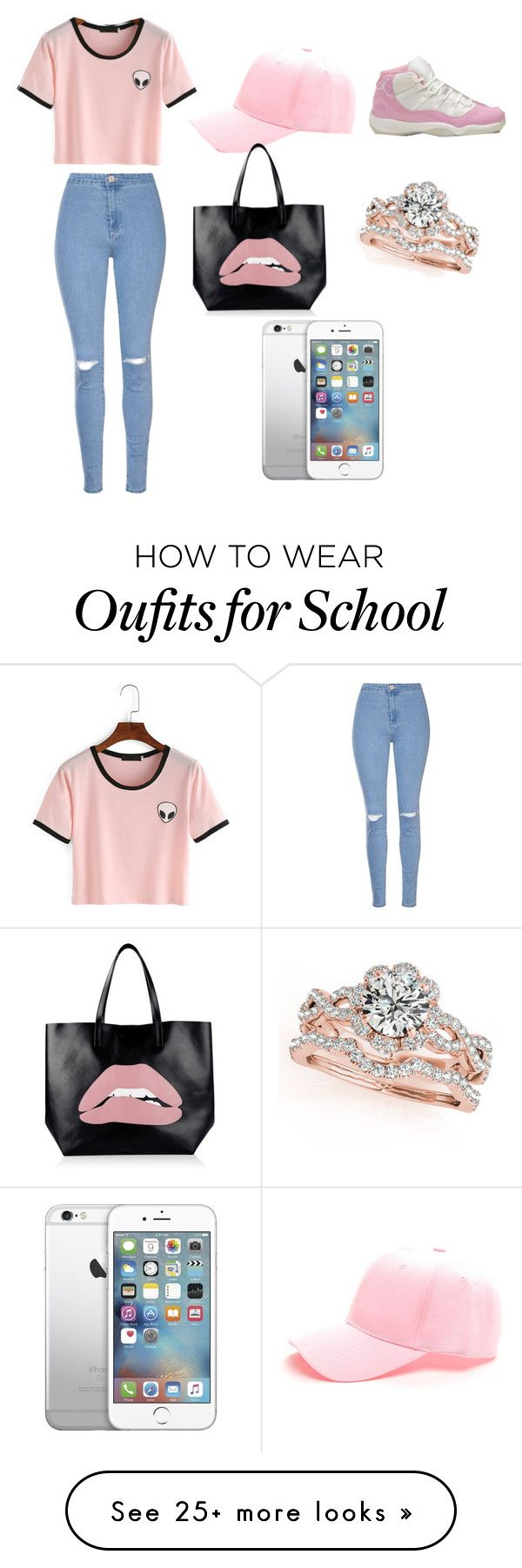 """""""Last Day Of School Outfit"""" by cedez2004 on Polyvore featuring Glamorous and RED Valentino"""