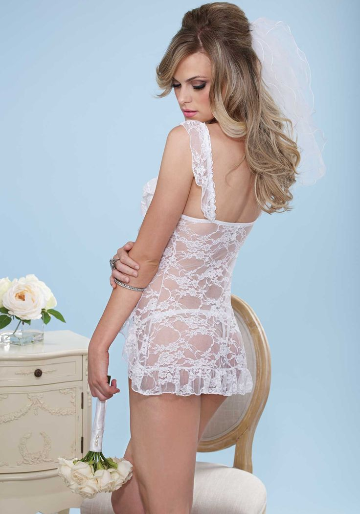 Bridal Underwire Babydoll 2Pc. Padded Underwire Lace Babydoll And Matching G-String.