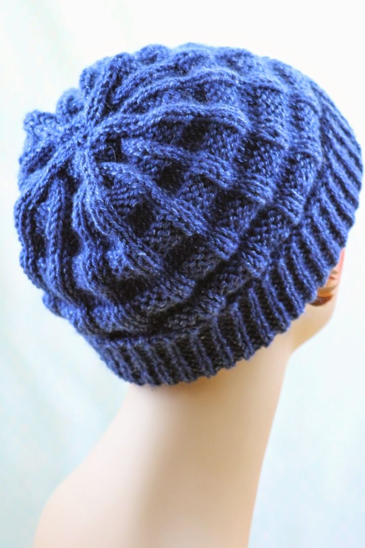 Belt Welt Hat: made with roughly 175 yards of worsted weight yarn and size US 8 or 9 needles