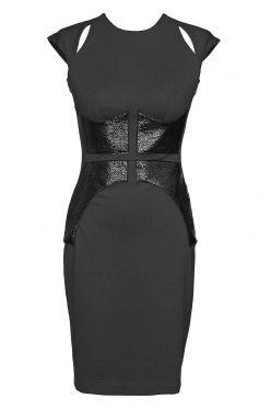PONTI BLACK SHIELD DRESS WITH CUTOUTS by Nicola Finetti | The Grand Social
