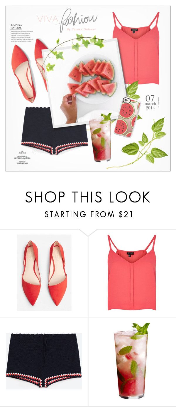 """""""watermelons"""" by fernweeh on Polyvore featuring moda, MANGO, Topshop, Casetify i Hermès"""