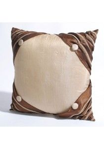 """Cushion Cover Corner buttons 16"""" X16 """" Mineral Yellow"""