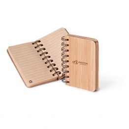 Bamboo Jotter - Cardboard backing and interior sheets are made from 75% recycled materials!
