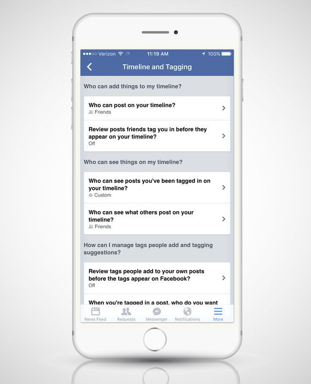 how to change privacy settings on facebook messenger iphone
