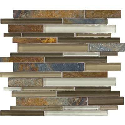Sassi - NaturePath Glass Stone Strip Mosaics - 94-078 - Home Depot Canada