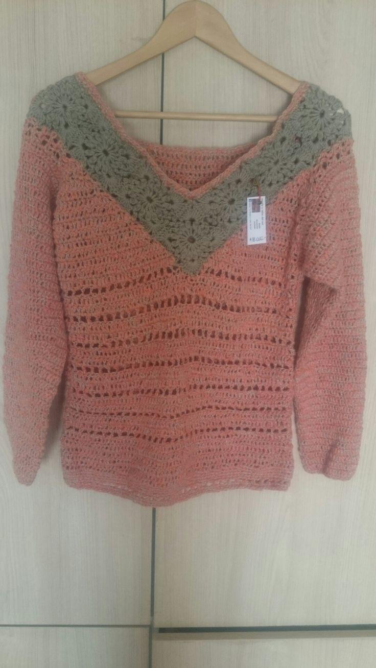 Sweter algodón  Tejido a crochet