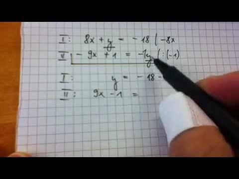 Lineare Gleichungssystem - LGS - Gleichsetzungsverfahren