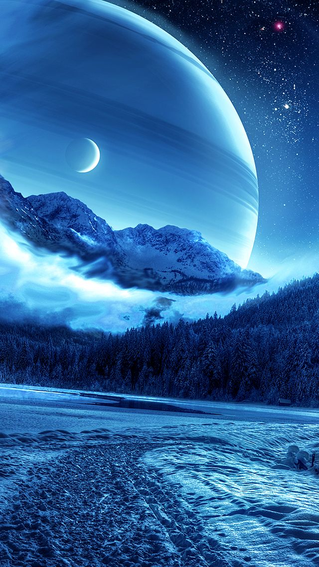 Forest Winter Planet Iphone Wallpaper Beautiful Nature Wallpaper Nature Wallpaper Beautiful Moon