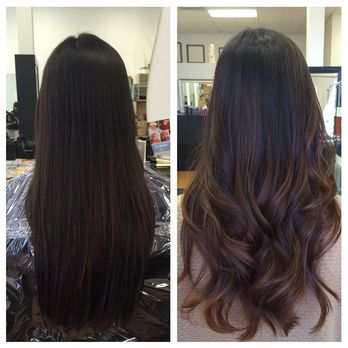 My awesome ombre balayage by Kim! Subtle and just what I wanted :) - Yelp