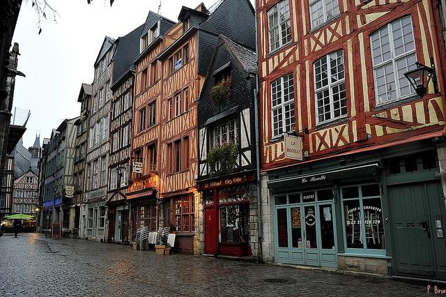 Rue de Martainville, Rouen, Haute-Normandie.