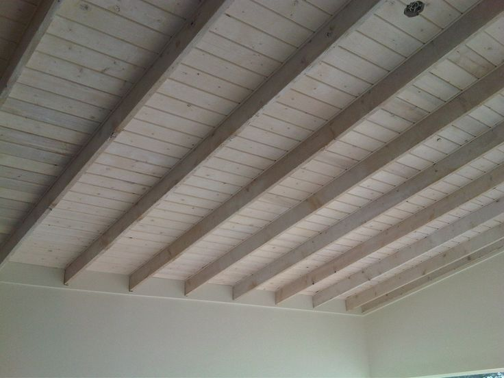 Whitewashed Wood Ceiling Wood Ceilings Ceiling Beams