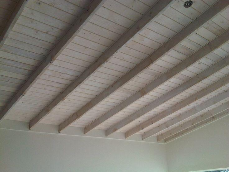Whitewashed Wood Ceiling Wood Ceilings Ceiling Beams