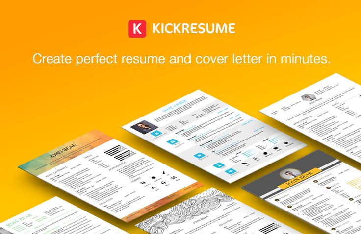 Kickresume Create beautiful resume and cover letter in minutes - how to create perfect resume