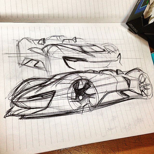 Random sketches on Behance