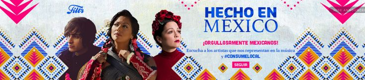 Headline destacado de artistas mexicanos en Spotify. Hecho en México.