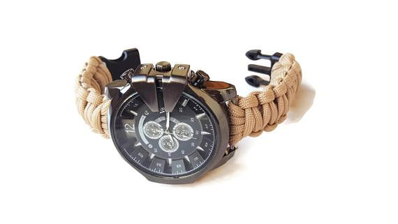 Men's paracord watch Military watch  Sport watch