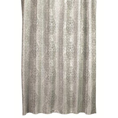 Moda at Home Argos 71-in x 71-in Damask Polyester Shower Curtain