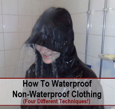 A few days back I did a post about how to waterproof your shoes and boots. This post was very popular on the Facebook page, and it got me thinking about whether there are ways to also waterproof clothing. Now I don't just mean reproofing…