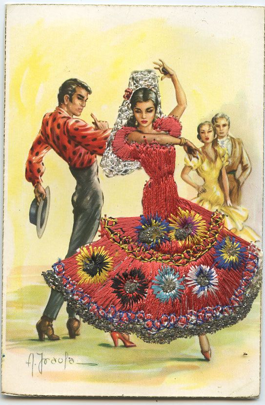 Spanish postcard, how I loved these as a kid