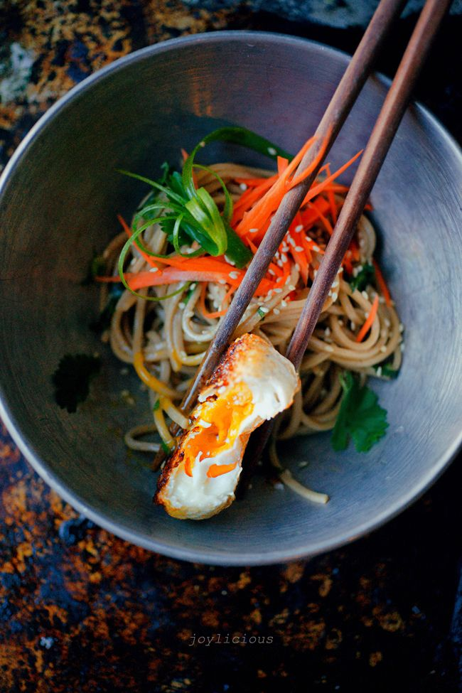 Soba noodles and fried egg