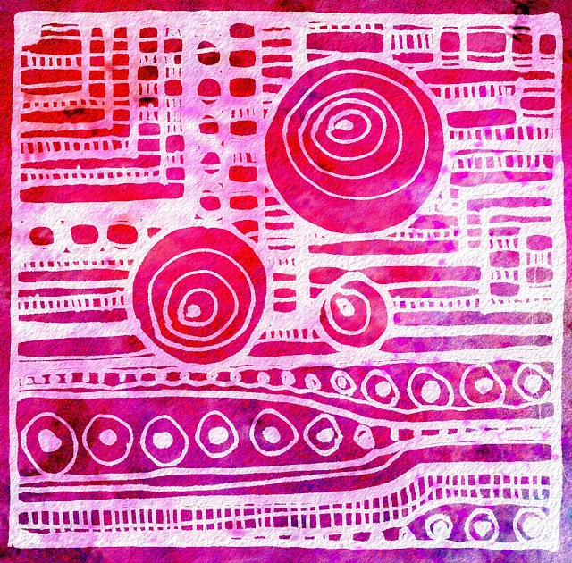 Abstract designs... may try this with styrofoam printmaking