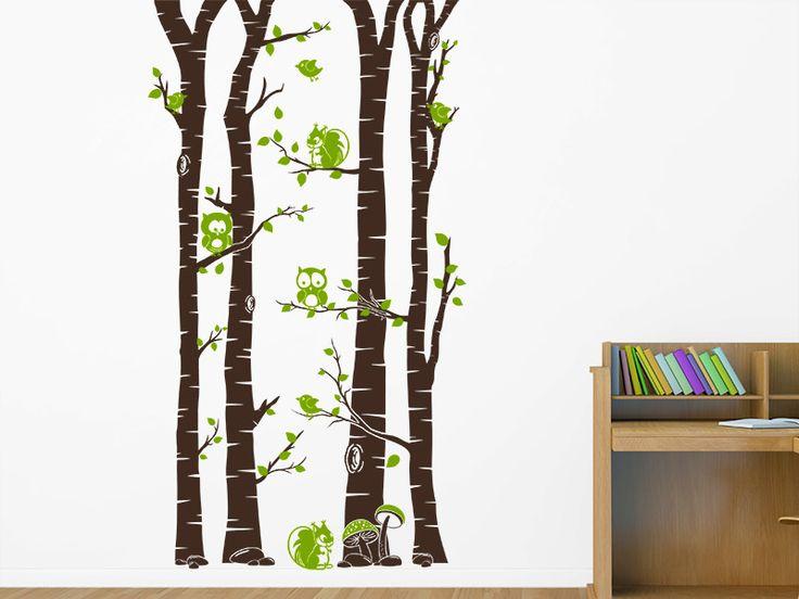 New Mit dem Wandtattoo Wald mit Waldbewohnern kannst Du Deine Wand im Kinderzimmer kreativ gestalten Die