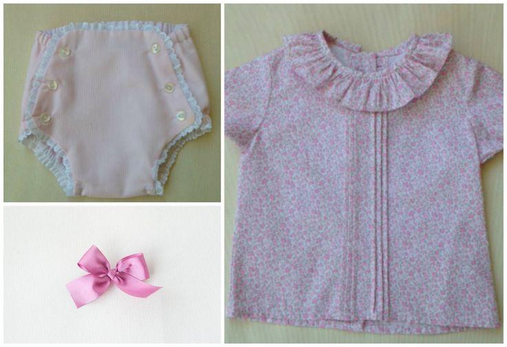La semana pasada preparamos un conjunto, la Camisa Celia y el Cubrepañal LCL, combinado con un mini lazo rosa, para que un bebe de 7 meses lo luzca en la Comunión de su primito...  ¡No puedes ser más acertado este look!  http://www.lacasitadellago.net/producto/bebe/