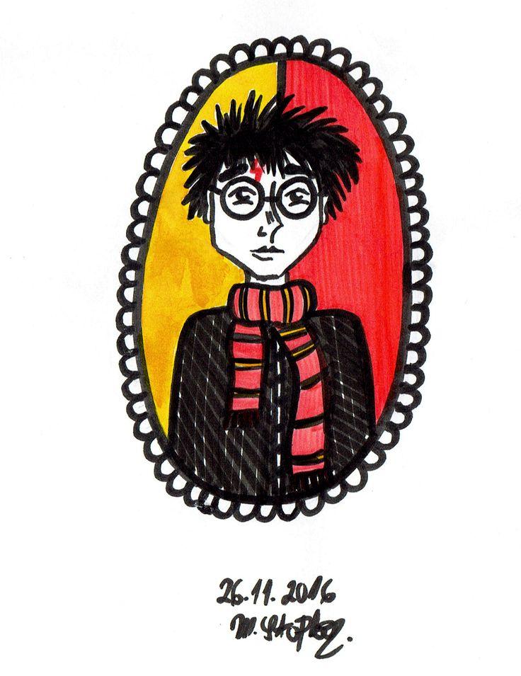IG: @maggie_creates_ harry potter doodle by @maggiestopko