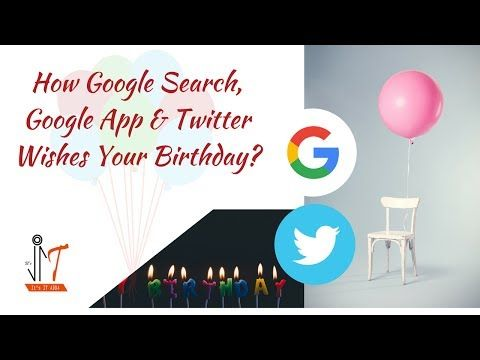 New on my channel: How Google Search, Google App and Twitter App wishes on Someones Birthday! https://youtube.com/watch?v=KFAxd65SEUE