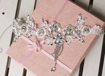 Кружева с кристаллами цветок волосы ювелирные изделия из хрусталя и жемчуга свадебные аксессуары для волос глава ювелирные изделия головной убор головные уборы 2014 WIGO0297