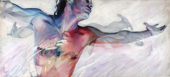 David Agenjo - Relieving _ 120x53cm _ Acrylic on canvas _ 2009