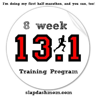 Half-marathon training in 8 weeks....    So...why not.