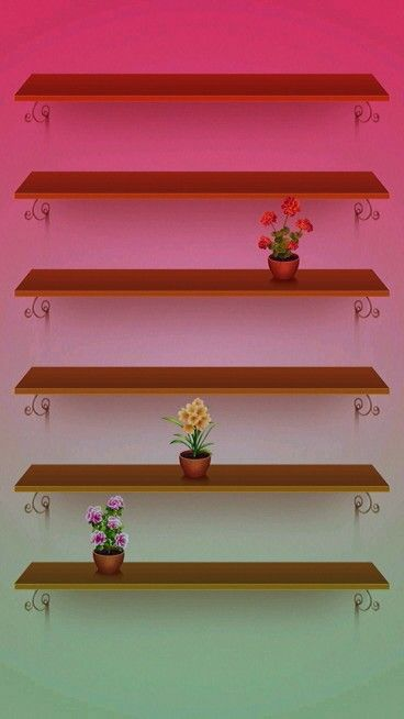 Flowers  polc wall