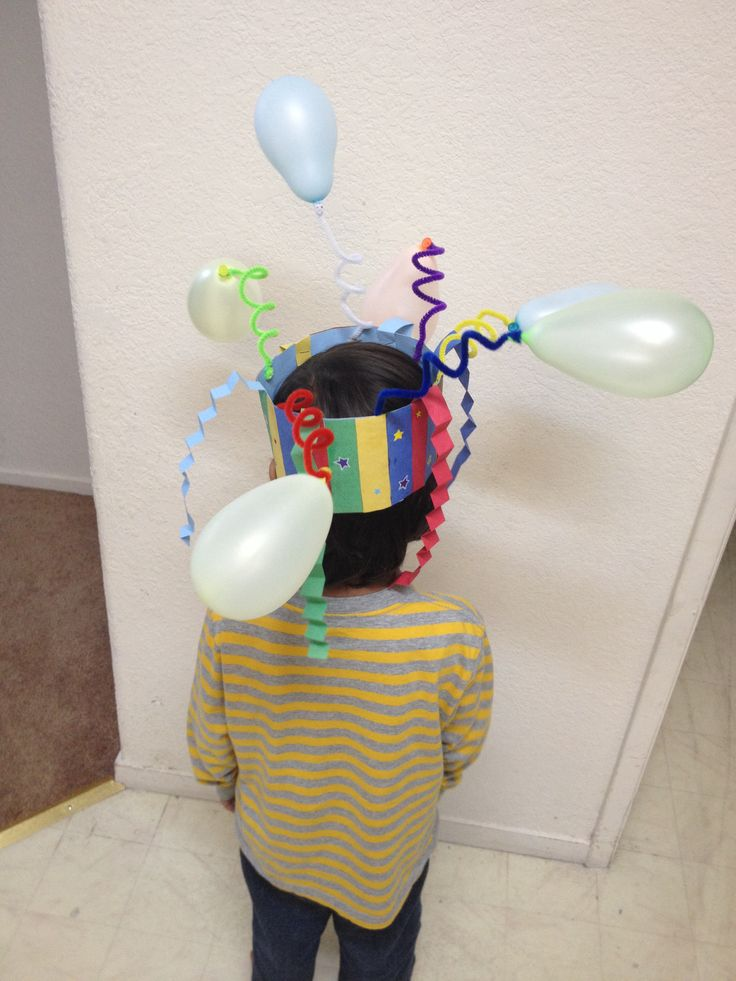 Crazy hat day at H's school