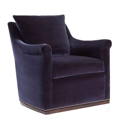 Jules Low Profile Swivel Chair from the Atelier collection by Hickory Chair Furniture Co.