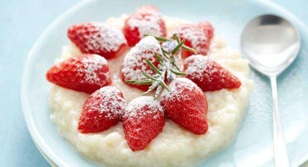 Riz au lait aux fraisesVoir la recette du Riz au lait aux fraises >>