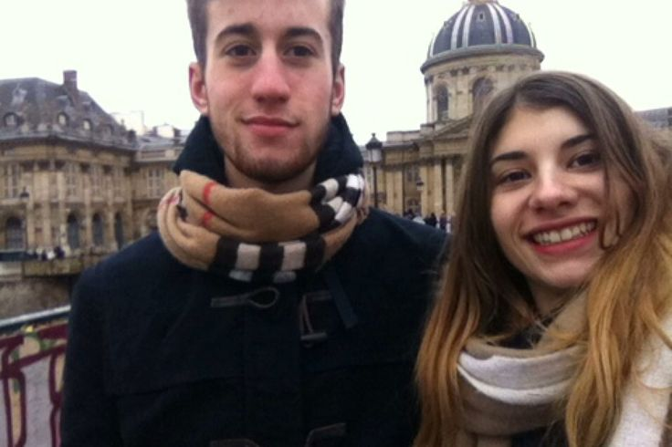 Marco and I at the Pont des Arts
