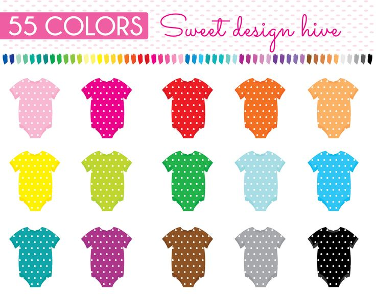 Baby Girl onesie clipart, Baby boy onesie clipart, onesie clipart, Planner Stickers, scrapbooking, Commercial Use, PL0055 by Sweetdesignhive on Etsy